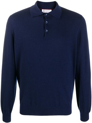 Brunello Cucinelli Knitted Polo Shirt