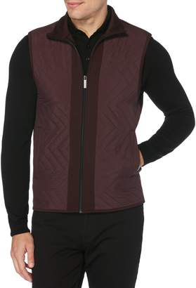 Perry Ellis Big Tall Quilted Chevron Vest