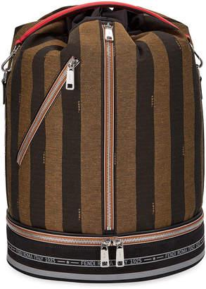 Fendi Men's Pequin Stripe Drawstring Carryall Bag