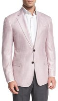 Armani Collezioni Melange Two-Button Sport Coat, Pink