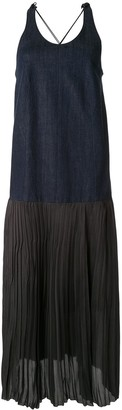Muller of Yoshio Kubo Sleeveless Pleated Denim Dress