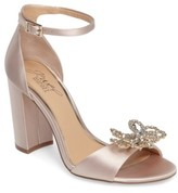 Badgley Mischka Women's Lex Embellished Block Heel Sandal