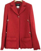 Chanel Red Cotton Jacket for Women