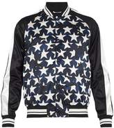 Valentino Camustars-print Satin Bomber Jacket