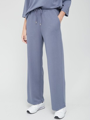 Very Premium Wide Leg Co Ord Jogger - Petrol Blue
