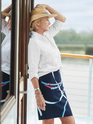 Mary Raffia Hat in Greek Key