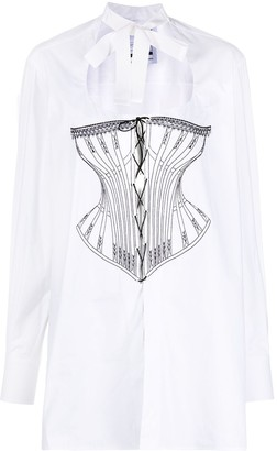 Seen Users Embroidered-Corset Blouse