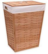Household Essentials Basket-Woven Bamboo Hamper