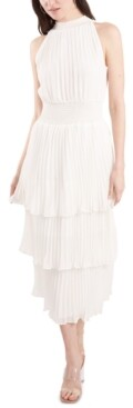 1 STATE Pleated Smocked Dress