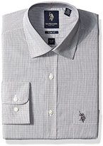 U.S. Polo Assn. Men's Hairline Stripe Semi Spread Collar Dress Shirt