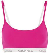 Calvin Klein Underwear Ck One Stretch-cotton Jersey Soft-cup Bra - Fuchsia
