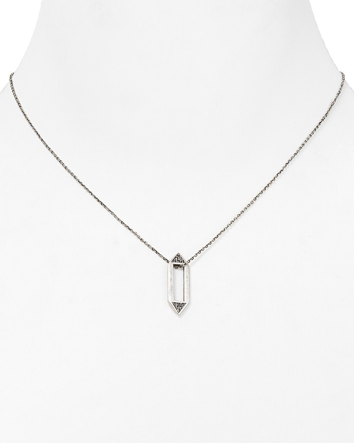 Rebecca Minkoff Large Open Pin Necklace, 15""