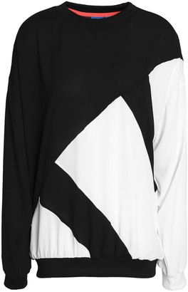 adidas Two-tone Crepe Top
