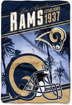 Northwest Los Angeles Rams Stagger Microfleece Oversized Throw by Northwest