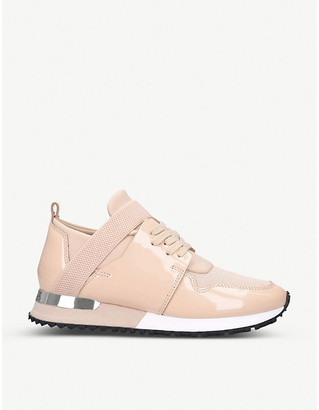 Elast leather and mesh trainers
