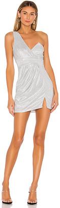 superdown Alora Asymmetrical Slit Dress