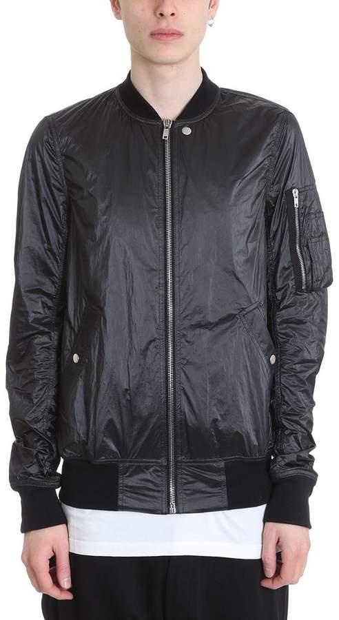Drkshdw Black Nylon Flight Jacket