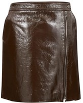 Theory Womens Berdin Skirt Dark Cassis