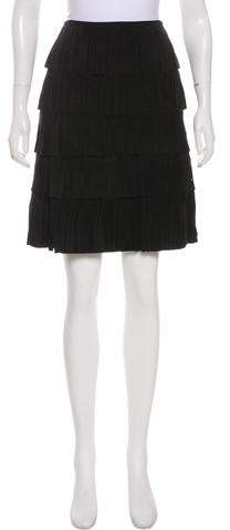 Suede Fringe Skirt