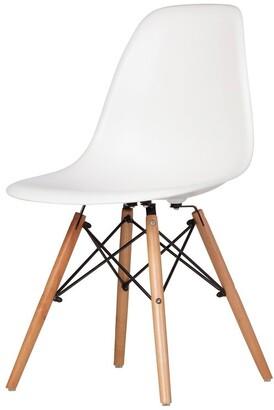 Design Tree Home Austin Mid-Century Side Chair, White