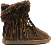 Lamo Chocolate Fringe Wrap Suede Boot - Kids