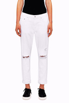 Nobody White Distressed Jean