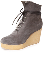 Coclico Nagy Sherpa Platform Wedge Booties
