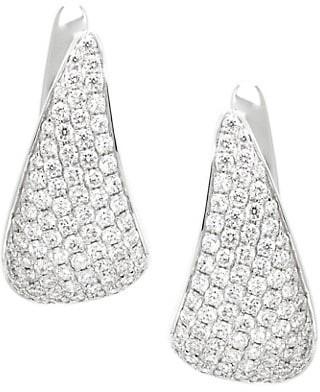 Anita Ko 18K White Gold & Diamond Claw Earrings