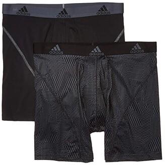 adidas Sport Performance Climalite Boxer Briefs Underwear 2-Pack (Black Onix Matrix/Black/Onix Black/Onix) Men's Underwear
