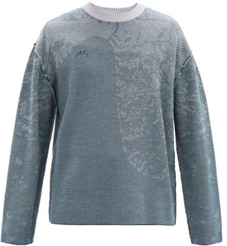 A-Cold-Wall* Shattered Glass-jacquard Wool Sweater - Mens - Blue
