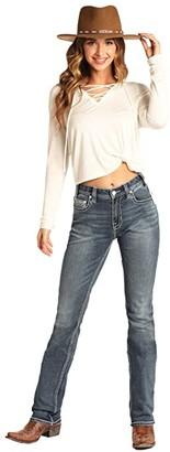 Rock and Roll Cowgirl Boyfriend in Medium Vintage W2-4130 (Medium Vintage) Women's Jeans