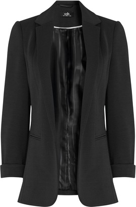 Wallis PETITE Black Ribbed Blazer