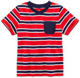 JCPenney Okie Dokie Short-Sleeve Striped V-Neck Tee - Boys 2t-5t