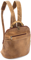 Le Donne Tan Distressed Westbury Leather Backpack