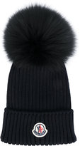 Moncler classic knitted beanie - kids - Racoon Fur/Virgin Wool - 50 cm