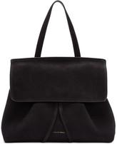 Mansur Gavriel Black Suede Mini Lady Bag
