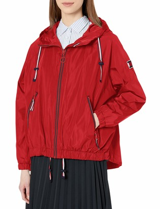Tommy Hilfiger Women's Iconic Sporty Hooded Windbreaker Jacket