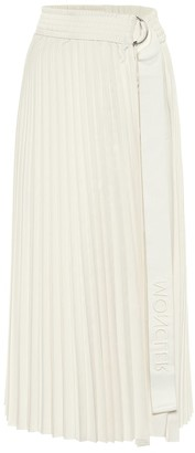 Moncler Pleated taffeta midi skirt