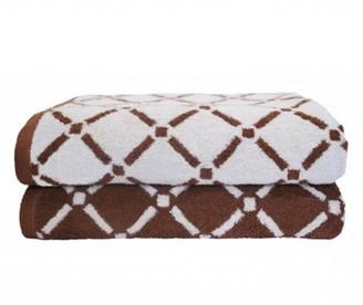 Impressions 100% Cotton 2-Piece Diamond Bath Towel Set