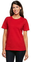 Denim & Co. As Is Essentials Short Sleeve Crew Neck T-Shirt