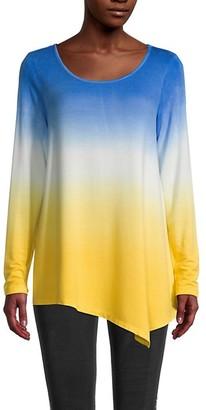 Fever Asymmetric Dip-Dye Pullover
