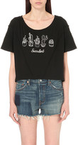 Wildfox Couture Stayin' Alive Thelma cotton-jersey t-shirt