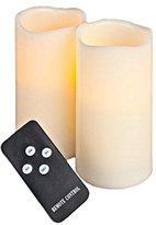"Gerson Everlasting Glow LED Wax Wavy Edge Candle, 2 Piece Set, 3"" x 6"""