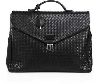 Bottega Veneta Woven Leather Briefcase