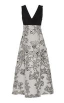 Lela Rose V-Neck Bow Back Dress