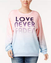 Hybrid Trendy Plus Size Love Never Fades Ombrandeacute; Sweatshirt