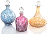 John-Richard Collection S/3 Glass Decanters w/Stoppers, Multi