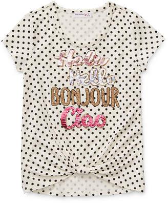 Knitworks Knit Works Girls Scoop Neck Short Sleeve Graphic T-Shirt - Preschool / Big Kid