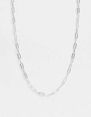 Orelia necklace with chain links in silver plate
