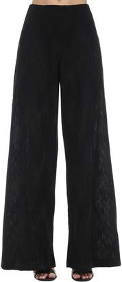 M Missoni Flared Intarsia Lurex Knit Pants